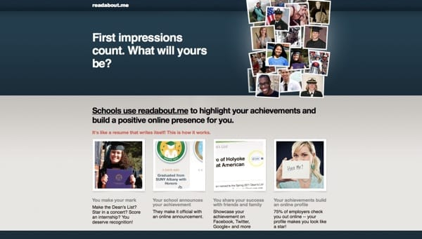 Readaboutme site